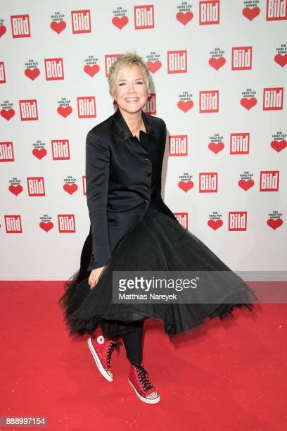 Inka Bause arrives at the Ein Herz Fuer Kinder Gala at Studio Berlin Adlershof on December 9 2017 in Berlin Germany