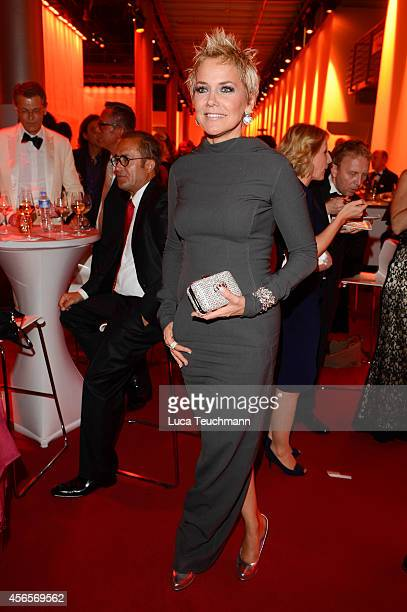 Inka Bause attend the Deutscher Fernsehpreis 2014 after show party at Coloneum on October 2 2014 in Cologne Germany