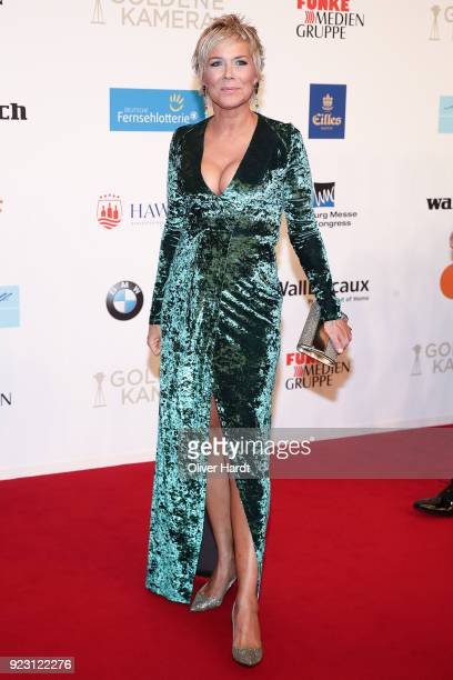 Inka Bause attends for the Goldene Kamera on February 22 2018 in Hamburg Germany