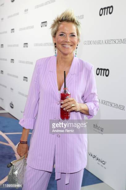 Inka Bause attends the after show party of Guido Maria Kretschmers show during the Berlin Fashion Week Spring/Summer 2020 at nhow Hotel Berlin on...