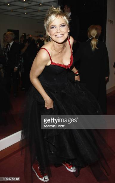 Inka Bause attends the Artists against Aids Gala 2011 at Theater des Westens on October 17 2011 in Berlin Germany