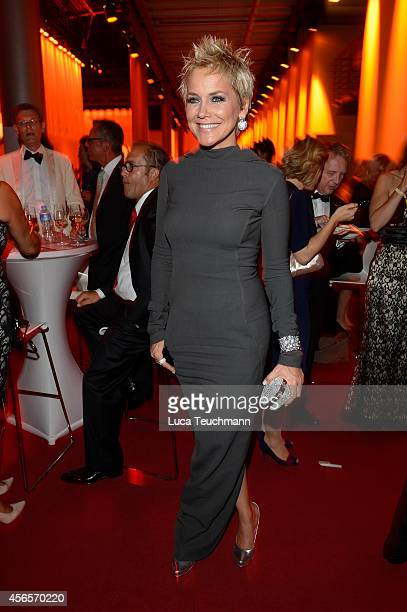 Inka Bause attends the Deutscher Fernsehpreis 2014 after show party at Coloneum on October 2 2014 in Cologne Germany
