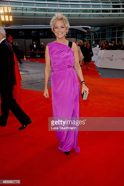 Inka Bause attends the Goldene Kamera 2015 on February 27 2015 in Hamburg Germany