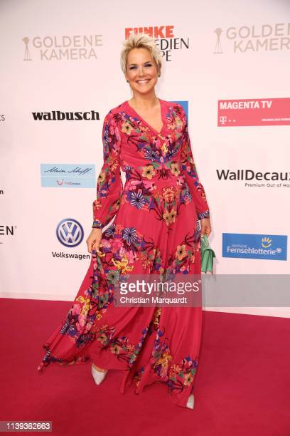 Inka Bause attends the Goldene Kamera at Tempelhof Airport on March 30, 2019 in Berlin, Germany.