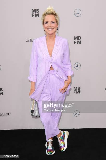 Inka Bause attends the Guido Maria Kretschmer show during the Berlin Fashion Week Spring/Summer 2020 at ewerk on July 01, 2019 in Berlin, Germany.