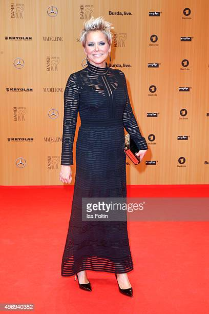 Inka Bause attends the Kryolan At Bambi Awards 2015 Red Carpet Arrivals on November 12 2015 in Berlin Germany