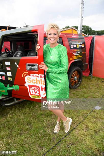 Inka Bause attends the Radio B2 SchlagerHammer OpenAirFestival at Rennbahn on July 15 2017 in Berlin Germany