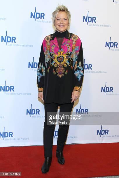 Inka Bause during the NDR Talk Show on February 22, 2019 in Hamburg, Germany.