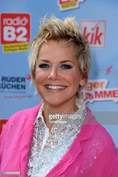 Inka Bause during the radio B2 SchlagerHammer Festival at Racecourse Hoppegarten on July 13, 2019 in Berlin, Germany.