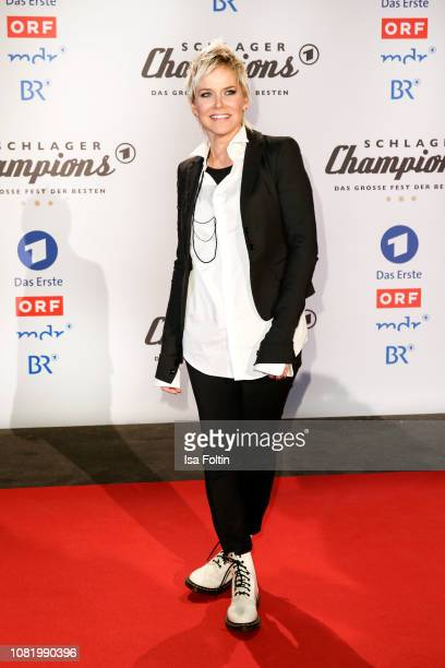 Inka Bause during the television show 'Schlagerchampions Das grosse Fest der Besten' at Velodrom on January 12 2019 in Berlin Germany
