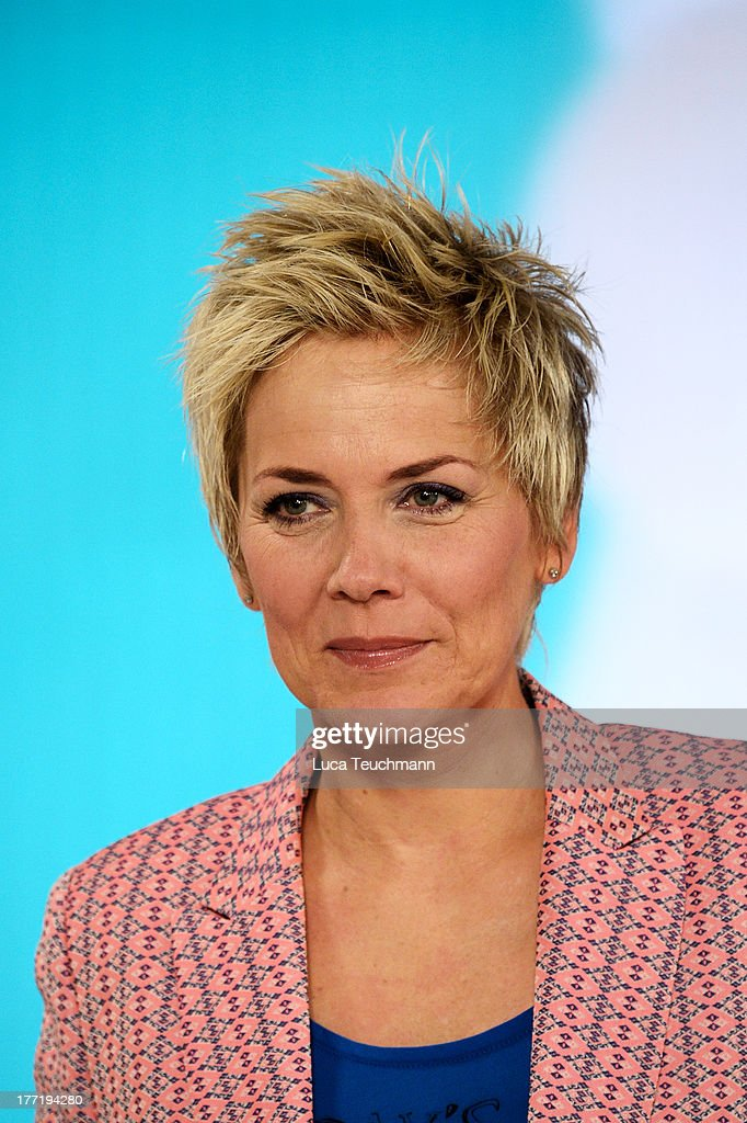 Inka Bause poses during a photocall for her new show 'inka!' on August 22, 2013 in Berlin, Germany.