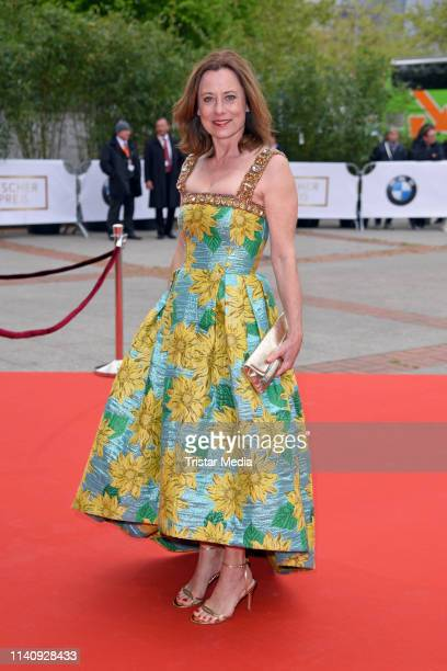 Inka Friedrich arrives at the German Film Award 2019 at Palais am Funkturm on May 3 2019 in Berlin Germany