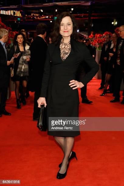 Inka Friedrich arrives for the closing ceremony of the 67th Berlinale International Film Festival Berlin at Berlinale Palace on February 18 2017 in...