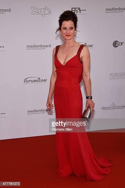 Inka Friedrich arrives for the German Film Award 2015 Lola at Messe Berlin on June 19, 2015 in Berlin, Germany.