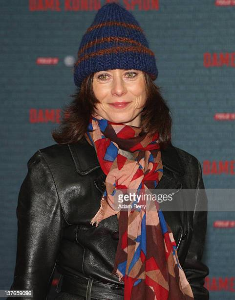 Inka Friedrich arrives for the German premiere of the film 'Dame Koenig As Spion' at Kino International on January 24, 2012 in Berlin, Germany. The...