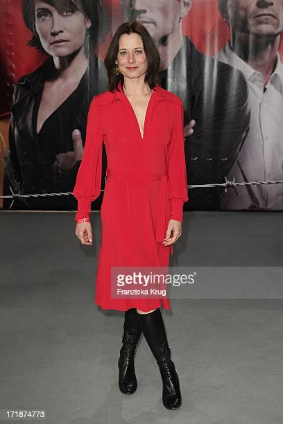 Inka Friedrich at the Premiere Of Sat1 event twoparter The Border Cinestar in Berlin Sony Center in Berlin