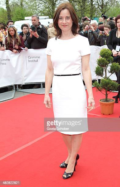 Inka Friedrich attends the 50th Grimme Award at Theater der Stadt Marl on April 4 2014 in Marl Germany