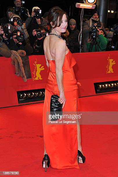 """Inka Friedrich attends the """"Les Adieux De La Reine"""" Premiere during day one of the 62nd Berlin International Film Festival at the Berlinale Palast on..."""