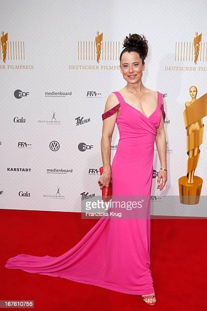 Inka Friedrich attends the Lola German Film Award 2013 at FriedrichstadtPalast on April 26 2013 in Berlin Germany