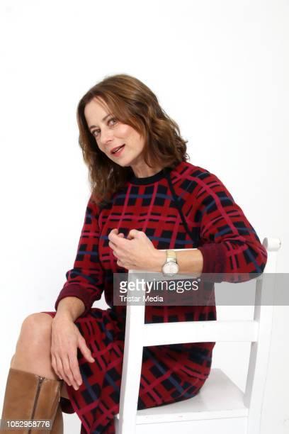 Inka Friedrich attends the photo call for the television movie series 'Sechs auf einen Streich' on October 24, 2018 in Hamburg, Germany.