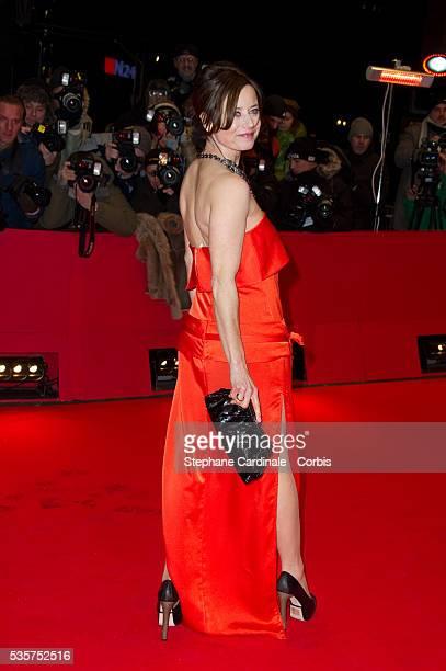 Inka Friedrich attends the premiere of Les Adieux De La Reine during the 62nd Berlin International Film Festival, in Berlin.