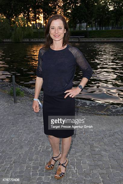 Inka Friedrich attends the producer party 2015 of the Alliance German Producer Cinema And Television on June 11 2015 in Berlin Germany