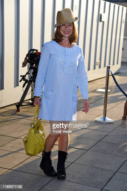 Inka Friedrich attends the UFA-Filmnaechte pre-reception at Museumsinsel on August 21, 2019 in Berlin, Germany.