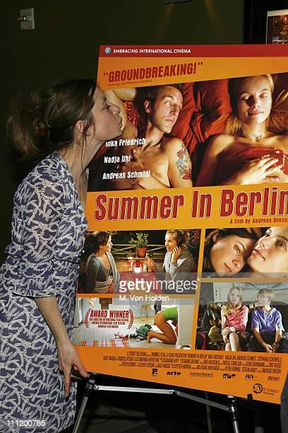 Inka Friedrich during Summer in Berlin New York City Premiere Arrivals at Landmark Sunshine Cinemas in New York City New York United States