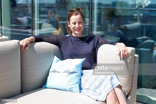 Inka Friedrich during the naming ceremony of the cruise ship 'Mein Schiff 4' on June 5 2015 in Kiel Germany