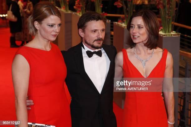 Inka Friedrich Floran Lukas and Joerdis Triebel attend 'The Grandmaster' premiere during the 63rd Berlinale International Film festival at Berlinale...