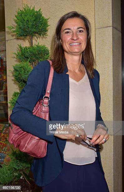 Inka Schneider attends the Marco Mannozzi store and makeup studio opening at Nikolaiviertel on June 3 2017 in Berlin Germany