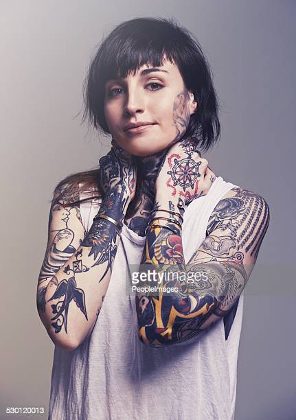 inked! - punk person stock pictures, royalty-free photos & images