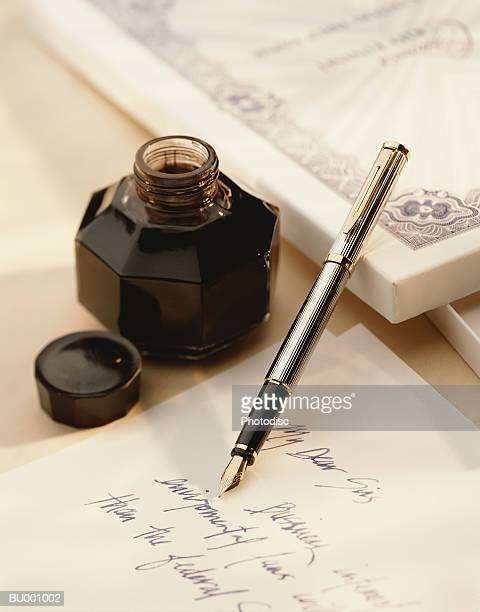 Inkwell and a Fountain Pen
