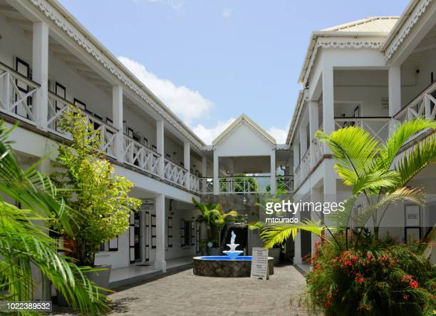 inland revenue department building, charlestown, nevis island, st kitts and nevis - creole culture stock pictures, royalty-free photos & images