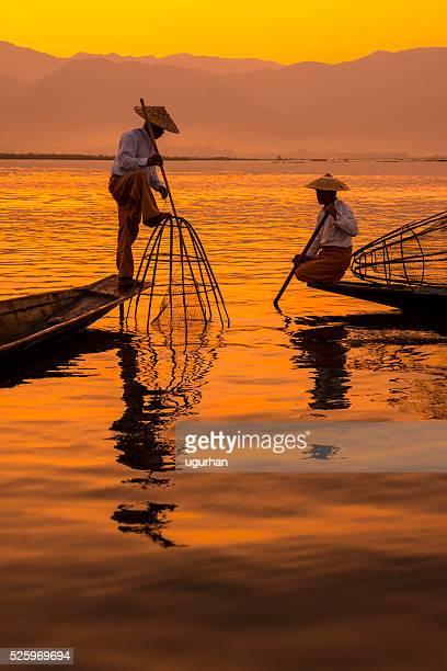 inle lake myanmar - myanmar stock pictures, royalty-free photos & images