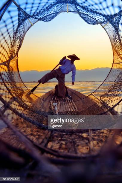inle lake - myanmar culture stock pictures, royalty-free photos & images