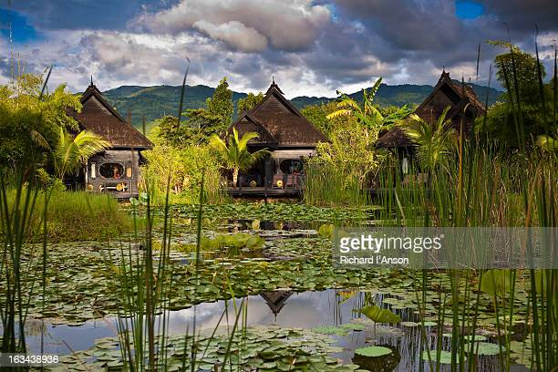 inle princess resort - inle lake stock pictures, royalty-free photos & images