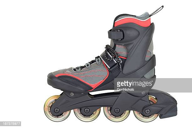 inline roller skate - inline skate stock photos and pictures
