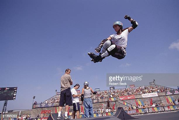 InLine Skating X Games Kate Gengo in action during street competition San Diego CA 6/25/1997