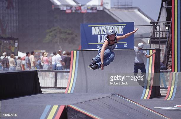 InLine Skating X Games Miscellaneous action during street competition San Diego CA 6/25/1997