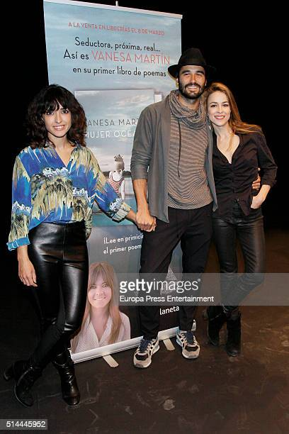 Inma Cuesta Alex Garcia and Silvia Abascal attend first poem book 'Mujer Oceano' written by Vanesa Martin on March 8 2016 in Madrid Spain
