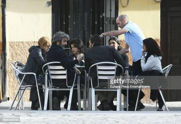Inma Cuesta and Ricardo Darin are seen during the set filming of 'Todos lo Saben' on November 23 2017 in Madrid Spain