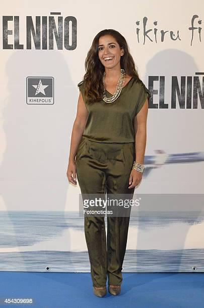 Inma Cuesta attends the premiere of 'El Nino' at Kinepolis Cinema on August 28 2014 in Madrid Spain