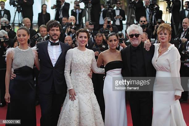 Inma Cuesta Daniel Grao Emma Suarez Inma Cuesta director Pedro Almodovar and Adriana Ugarte attend the 'Julieta' premiere during the 69th annual...