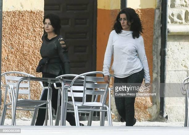 Inma Cuesta is seen during the set filming of 'Todos lo Saben' on November 23 2017 in Madrid Spain