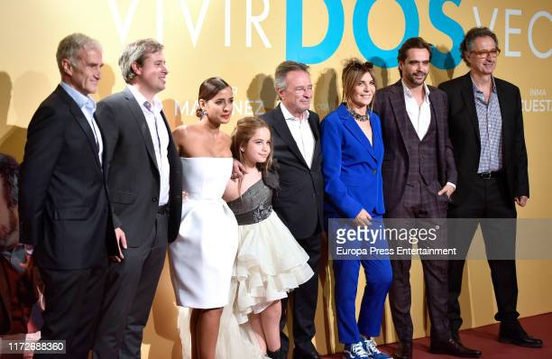 Inma Cuesta Mafalda Carbonell Oscar Martinez Maria Ripoll and Nacho Lopez attend 'Vivir dos veces' premiere at Cinemas Capitol on September 05 2019...