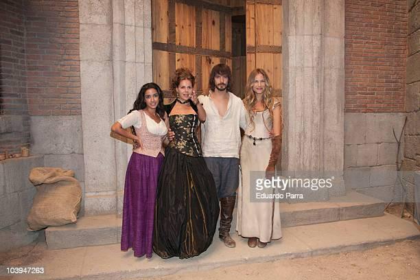 Inma Cuesta Myriam Gallego David Janer and Martina Klein attend 'Aguila Roja' new season photocall at Television Española studios on September 9 2010...