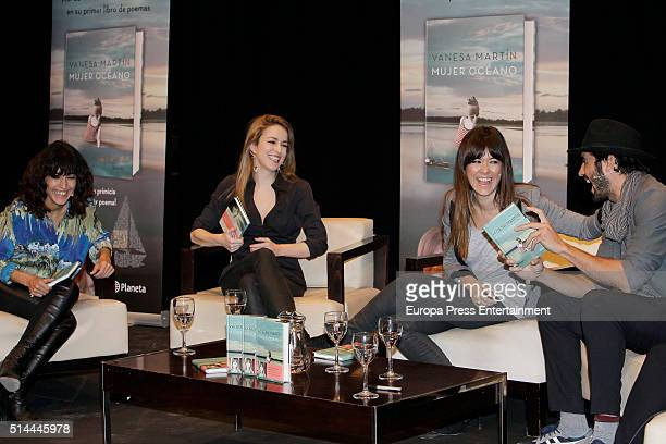Inma Cuesta Silvia Abascal Vanesa Martin and Alex Garcia attend first poem book 'Mujer Oceano' written by Vanesa Martin on March 8 2016 in Madrid...