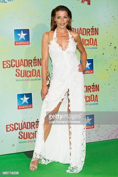Inma del Moral attends 'Escuadron Suicida' premiere at Kinepolis Cinema on August 3 2016 in Madrid Spain