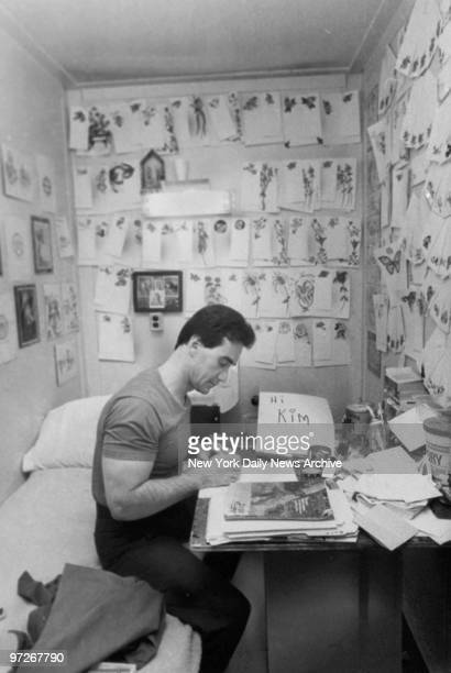 Inmate in his cell at Sing Sing prison